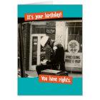 Funny Vintage Cop Birthday Rights Card