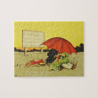Funny vintage couple puzzle