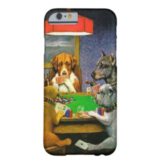 Funny Vintage Dogs Playing Poker Barely There iPhone 6 Case