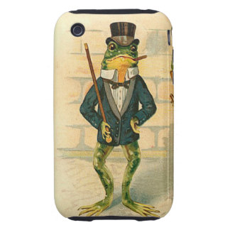 Funny Vintage Frog iPhone 3 Tough Covers