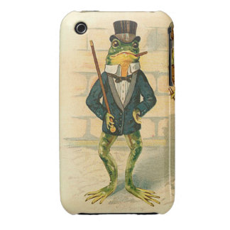 Funny Vintage Frog Case-Mate iPhone 3 Case