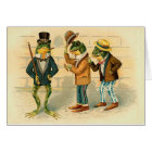 Funny Vintage Frogs Card