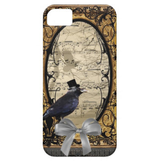 Funny vintage Gothic wedding crow Case For The iPhone 5