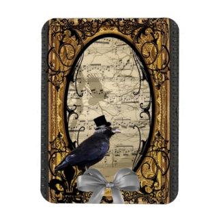Funny vintage Gothic wedding crow Magnet