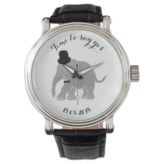 Funny Vintage Groom Encouragement Elephant Watch