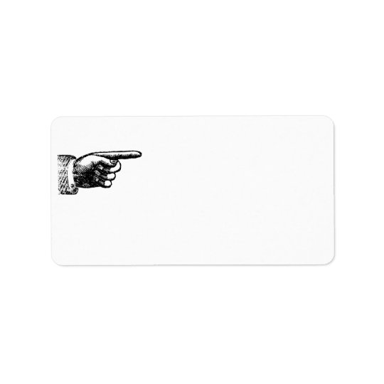Funny Vintage Hand | Blank White Address Label