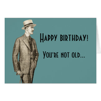 Funny Vintage Happy Birthday Greeting Card