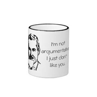 Funny Vintage I'm Not Argumentative Insult Ringer Mug