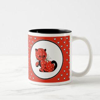 Funny Vintage Kitty Valentine's Day Gift Mugs