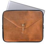 Funny vintage leather bag laptop sleeves