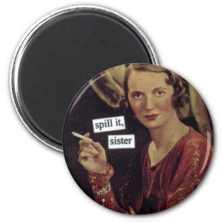 Funny Vintage Magnet