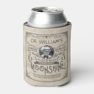 Funny Vintage Moonshine Hillbilly Medicine Custom Can Cooler