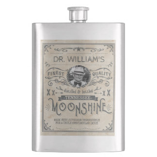 Funny Vintage Moonshine Hillbilly Medicine Custom Hip Flask
