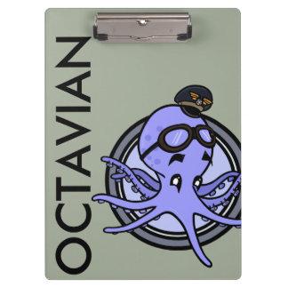 FUNNY VINTAGE OCTOPUS PILOT CLIPBOARD
