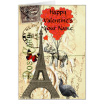 Funny  vintage Paris Valentine's Greeting Card