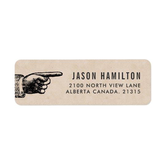 Funny Vintage | Personalised Return Address Return Address Label