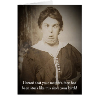 Funny Vintage Photograph Birthday Card