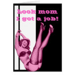 Funny vintage pinup girl mothers day greeting card