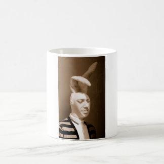 Funny vintage playboy design basic white mug