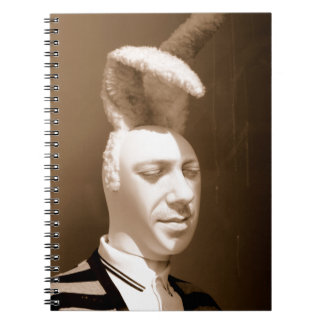 Funny vintage playboy design spiral note book