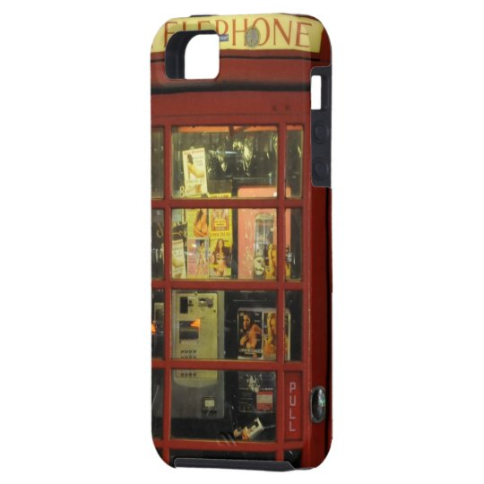 Funny Vintage Red Telephone Box iPhone 5 Case
