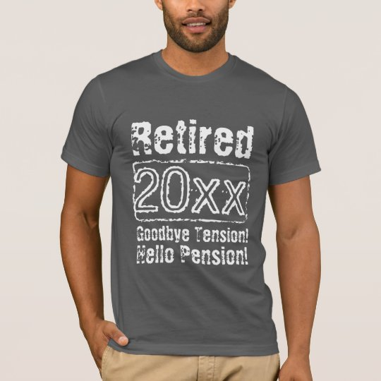 Funny vintage retirement t shirts for retired men