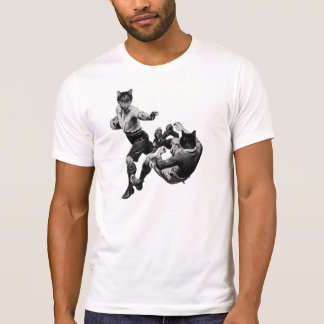 funny vintage rugby playing cats T-Shirt