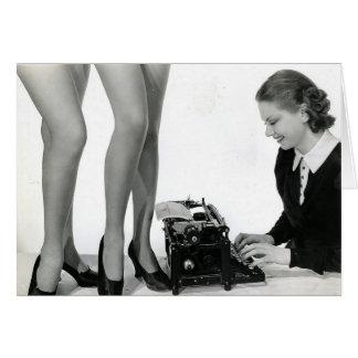 Funny Vintage Secretary Card