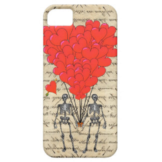 Funny vintage Skeleton and red heart iPhone 5 Cover