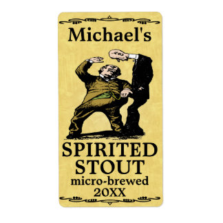 Funny Vintage Spirited Stout Beer Label Shipping Label