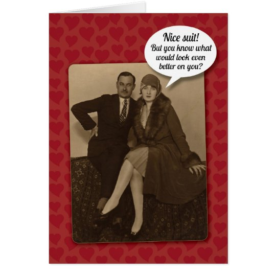 Funny Vintage Suggestive Valentine's Day Card