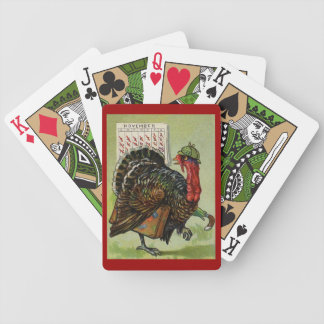 Funny Vintage Thanksgiving Turkey Playing Cards! Bicycle Playing Cards