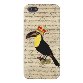 Funny vintage toucan and  crown iPhone 5/5S case