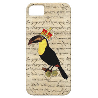 Funny vintage toucan & crown iPhone 5 case