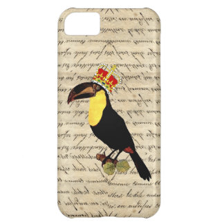 Funny vintage toucan & crown iPhone 5C case