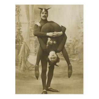 Funny Vintage Victorian Circus Performers Postcard