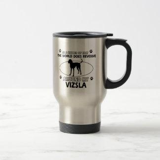 Funny vizsla designs travel mug
