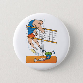 Funny Volleyball 6 Cm Round Badge