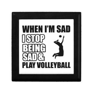 Funny Volleyball designs Small Square Gift Box