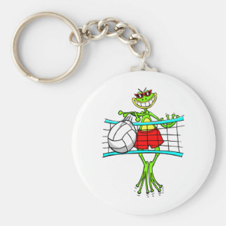 Funny Volleyball Key Ring