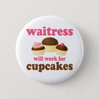 Funny Waitress 6 Cm Round Badge