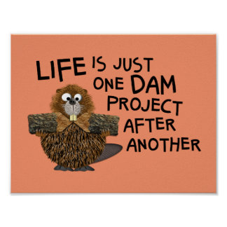 Funny Wall Art for the Busy Him or Her Beaver