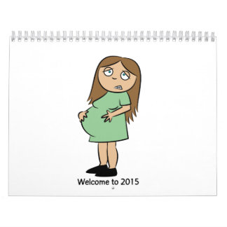 Funny Wall Calendar for Pregnant Women