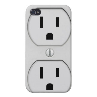 Funny Wall Socket Plug, G4 iPhone 4 Case