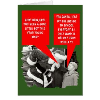 Funny wank Christmas Greeting Card