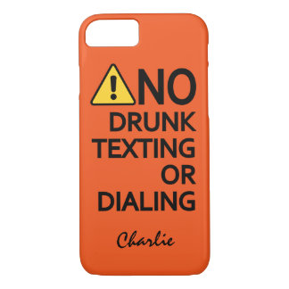 Funny Warning Custom Name & Colour phone cases