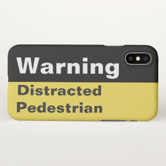 Funny Warning Distracted Pedestrian iPhone Case