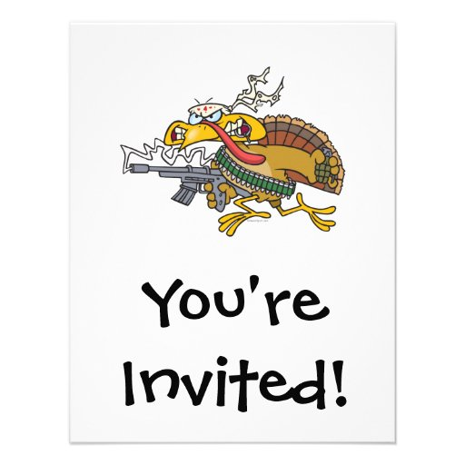 funny warrior turkey personalized announcement