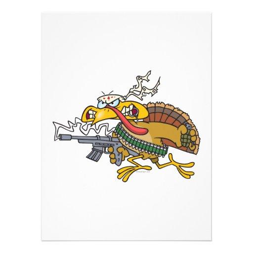 funny warrior turkey custom announcement