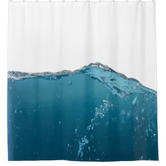 Funny Water Novelty Humour art Shower Curtain